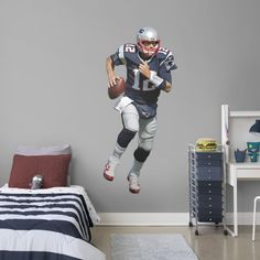 Fathead NFL wall decals cut outs and murals bring home the intensity of the gridiron. These football graphics are a great gift for fans of all ages. & Boy Wall Art | Sports Wall Decals for Boys from Fathead® | wall ...