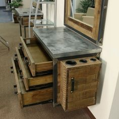 Image result for pretty antiquing nail station for small spaces