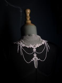 The sensuality and strength of the feminine neck… Natalie Capell Atelier Barcelona Crochet Necklace, Barcelona, Strength, Feminine, Detail, Jewelry, Fashion, Atelier, Women's