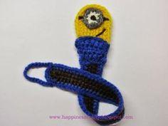 Minion Pacifier Holder ~ Free Crochet Pattern by keri