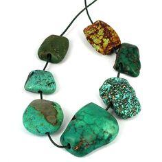 Antique Tabular Turquoise Gemstone Beads