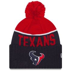 bc13f8897 Houston Texans New Era On-Field Sport Knit Hat with Pom - Navy