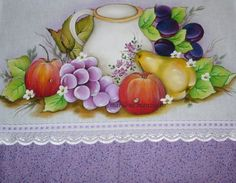 Pano de prato Fruit Vector, Various Artists, Fabric Painting, Paper Piecing, Wearable Art, Embroidery Patterns, Crochet, Sketches, Wallpaper