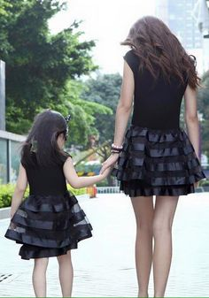 """""""Mommy and I go for a walk."""""""