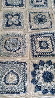 Ravelry: SharonBlignaut& Block a Week CAL 2014 - . Ravelry: SharonBlignaut& Block a . Crochet Bedspread Pattern, Crochet Motifs, Crochet Quilt, Granny Square Crochet Pattern, Crochet Blocks, Afghan Crochet Patterns, Crochet Squares, Free Crochet, Knitting Patterns