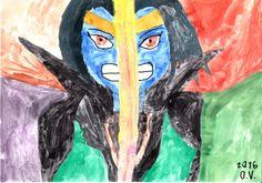Eka maalaukseni vuosiin.  Aihe: Jade Chan fanifiktiosta Kage (Jackie Chan Adventures & W.I.T.C.H. yhteymä)