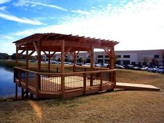 Austin Deck Overlooking the Water with Pergola