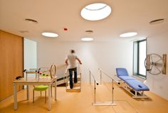 Gallery of Healthcare Center / José Soto García - 25 Clinic Interior Design, Clinic Design, Healthcare Design, Home Office Design, Therapy Office Decor, Pediatric Physical Therapy, Sensory Rooms, Elderly Home, Health Care