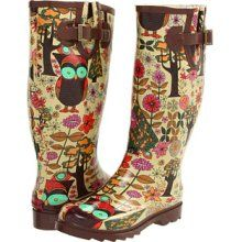 Chooka Gypsy Owl Women's Rain Boots. I got these for my birthday, and they are AWESOME