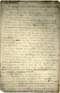 F. Scott Fitzgerald's manuscript of The Great Gatsby