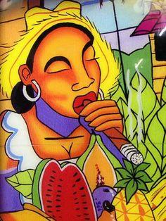 Cigars And Whiskey, Pipes And Cigars, Cuban Cigars, Cigar Art, Caribbean Art, Smoke Art, Poster Prints, Art Prints, Afro Art