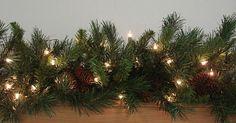 """VICKERMAN 9' x 14"""" Pre-Lit Cheyenne Pine Christmas Garland - Clear Dura Lights #clear #dura #lights #garland #christmas #cheyenne #pine #vickerman"""