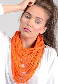 Naszyjnik dzianinowy - Pomarańcz