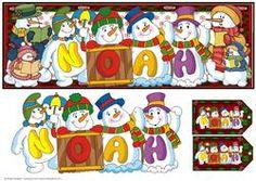 Snowmen Names Large Dl - Noah