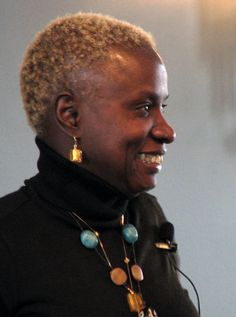 Angelique Kidjo 2008 Grammy winner speaking about issues of child labor and conscription in Africa wears @Imperio Jp custom necklace