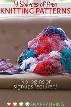Pile of yarn on a couch