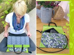June is 4 Grads: Fold Over Book Bag/Tote | Sew4Home with pattern