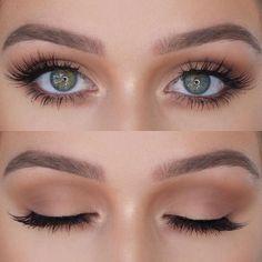 Bride Makeup Inspiration: Wedding Makeup - hochzeit makeup - Make Up Makeup Looks For Green Eyes, Different Makeup Looks, Natural Makeup Looks, Bridal Makeup For Green Eyes, Subtle Eye Makeup, Natural Makeup For Prom, Makeup For Green Dress, Natural Eyeshadow Looks, Eyeshadow For Green Eyes