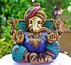 Large Ganesh Statue, Ganesha Sculpture, Hindu God Ganesh , Home decor Indian Gods, Indian Art, Shiva, Krishna, Namaste, Hindu Rituals, Ganesh Statue, Elephant Head, Hindu Deities