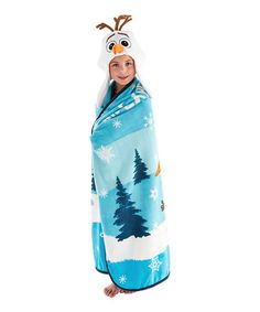 Another great find on #zulily! Snow Surfing Throw & Earflap Beanie by Frozen #zulilyfinds