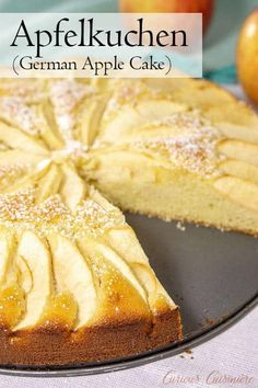 Kuchen Recipe Moist and buttery cake meets fall apples in Apfelkuchen, a classic German Apple Cake that is the perfect recipe for a fall dessert. Baked Apple Dessert, Apple Dessert Recipes, Fall Desserts, Apple Recipes, Baking Recipes, Cookie Recipes, Cupcake Recipes, German Apple Cake, Apple Kuchen Recipe German