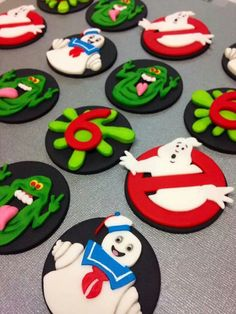 Ghostbusters cupcake toppers