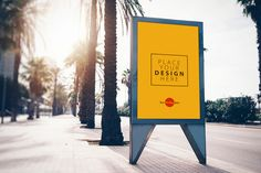 Street City Free Billboard Banner Mock-up PSD For Advertisement