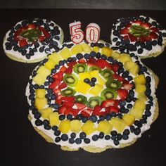 Mickey Mouse Fruit Pizza