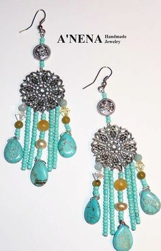 Earrings HealingSumaqBeautiful in Quechua15th by ANenaJewelry, $40.17
