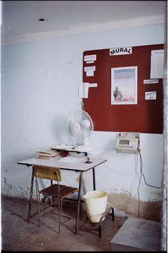 Quentin de Briey : su oficina,cienfuegos/cuba may 2015