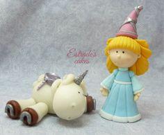 Estrade's cakes: modelado de unicornio y doncella.