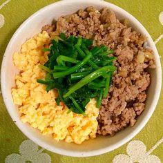 たまに食べたくなる(o^^o) - 33件のもぐもぐ - 三色丼♡ by mmmoki