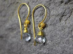 Aquamarine Briolette Earrings