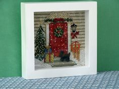 Linda Walsh Originals Blog: My Home For Christmas Cross-Stitch Shawdow Box Picture - Created by Linda Walsh based on Mill Hill Buttons & Beads Cross-Stitch Kit #MH14-1301