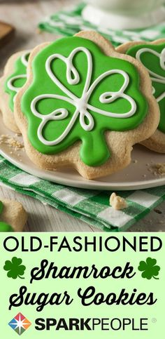 Old-Fashioned Cut Out Sugar Cookies. I have tried many cutout cookie recipes, and this is the best! Very easy to roll out.  | via @SparkPeople #cookies #StPaddysDay #dessert