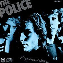 """Reggatta de Blanc is the second album by The Police, released in 1979. It features the band's first two number 1 hits, """"Message in a Bottle"""" and """"Walking on the Moon""""."""