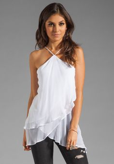 HEATHER Flutter Tunic in White at Revolve Clothing - Free Shipping!