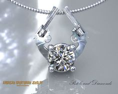 Dueling Pistols-Stone - American Sportsman Jewelry