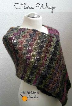 The Flora Wrap/ Shawl - Free Crochet Pattern on myhobbyiscrochet.com