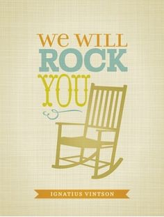 """Love this! """"we will rock you"""" nursery wall art"""