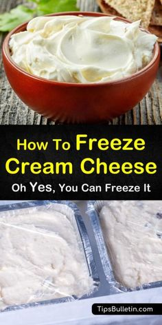 cream cheese recipes Can you freeze cream cheese? With our guide, youll learn how to store and thaw cream cheese and use it for amazing and healthy dishes. Freezing Cream Cheese, Freeze Cream, Freezing Butter, Freezing Vegetables, Freezing Fruit, Cream Cheese Recipes, Heavy Cream Recipes, Cream Cheeses, Freezer Cooking