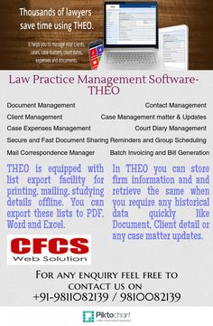 In THEO you can store firm information and and retrieve the same when you require any historical data quickly like Document, Client detail or any case matter updates.