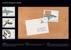 Dans certains pays, la chasse des espèces en voie de disparition est un véritable plaisir et certaines personnes voient ces proies comme des trophées à collectionner.  Pour sensibiliser l'opinion publique à cette cause et la soutenir, Pro Wildfire a réalisé une campagne avec le studio allemand Guertlerbachmann en créant des timbres très astucieux.