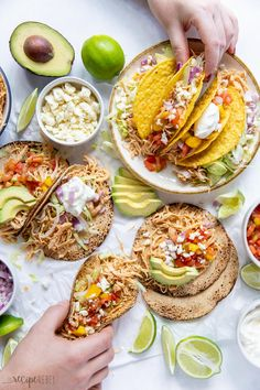 These Slow Cooker Chicken Tacos are an easy, healthy, weeknight dinner! Just dump everything in the crockpot and forget about it. #crockpot #slowcooker #chicken | chicken breast recipes | chicken recipes | crockpot meals | slow cooker recipes | dinner ideas Slow Cooker Chicken Tacos, Chicken Taco Recipes, Crockpot Recipes, The Recipe Rebel, Dinner Recipes, Dinner Ideas, Pressure Cooker Recipes, Sweet And Spicy, Cooking