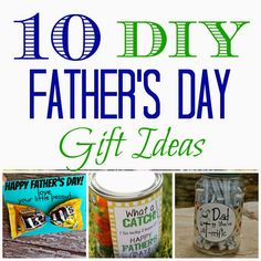 10 DIY Father's Day Gift Ideas - Leah With Love