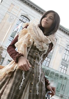 Mori Girl Fashion. Japan Quirky meets Woodland Fairy meets Victorian Steampunk meets Tattered Vintage Grandma's Lace Shawl.