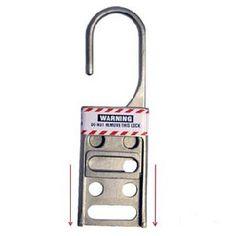 1.5 Diameter Jaws UltraSource Lockout Hasps Vinyl Coated Steel Hasp