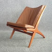 Located using retrostart.com > Cross Lounge Chair by Fredrik Kayser for Rastad and Relling