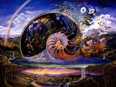 Nautilus by Josephine Wall. Life is far too complex to have evolved from the vastness of space.