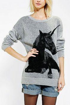 Sparkle & Fade Unicorn Sweater